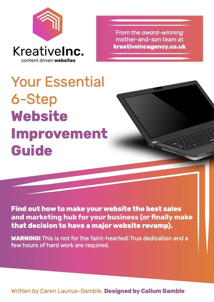 Website Improvement E-Book cover