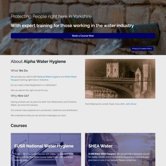 Alpha Water Hygiene Website Project