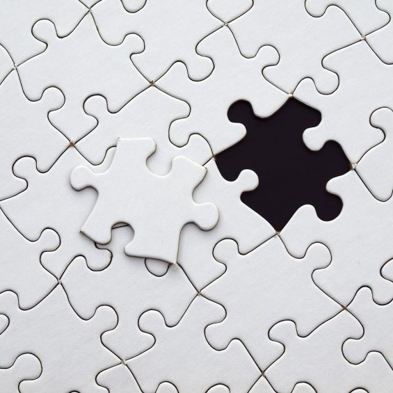 jigsaw with missing piece