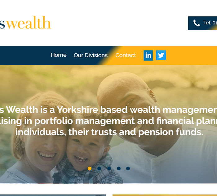 Leodis Wealth website project home page