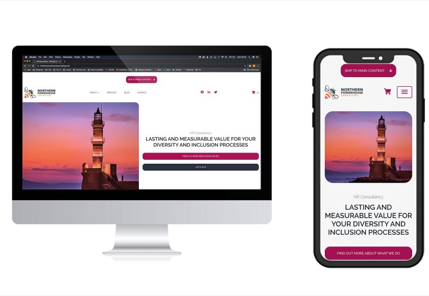 iMac iphone northern powerhouse consulting homepage