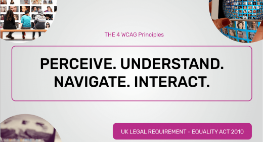 Presentation Perceive Understand Navigate Interact WCAG Principles