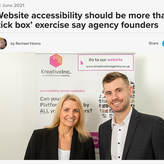 Website accessibility should be more than a 'tick box' exercise say agency founders Prolific North
