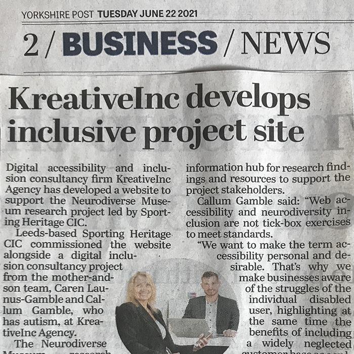 BUSINESS NEWS KreativeInc Develops inclusive project site
