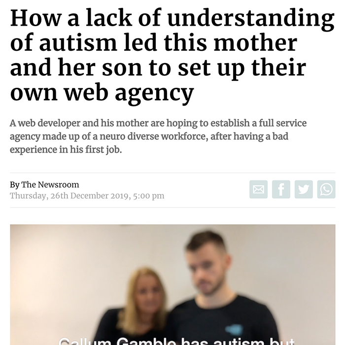 How a lack of understanding of autism led this mother and her son to set up their own web agency Yorkshire Post